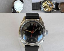 Vintage Rare Military Germany Officer Mechanical Wrist Watch 16J Wasserdicht