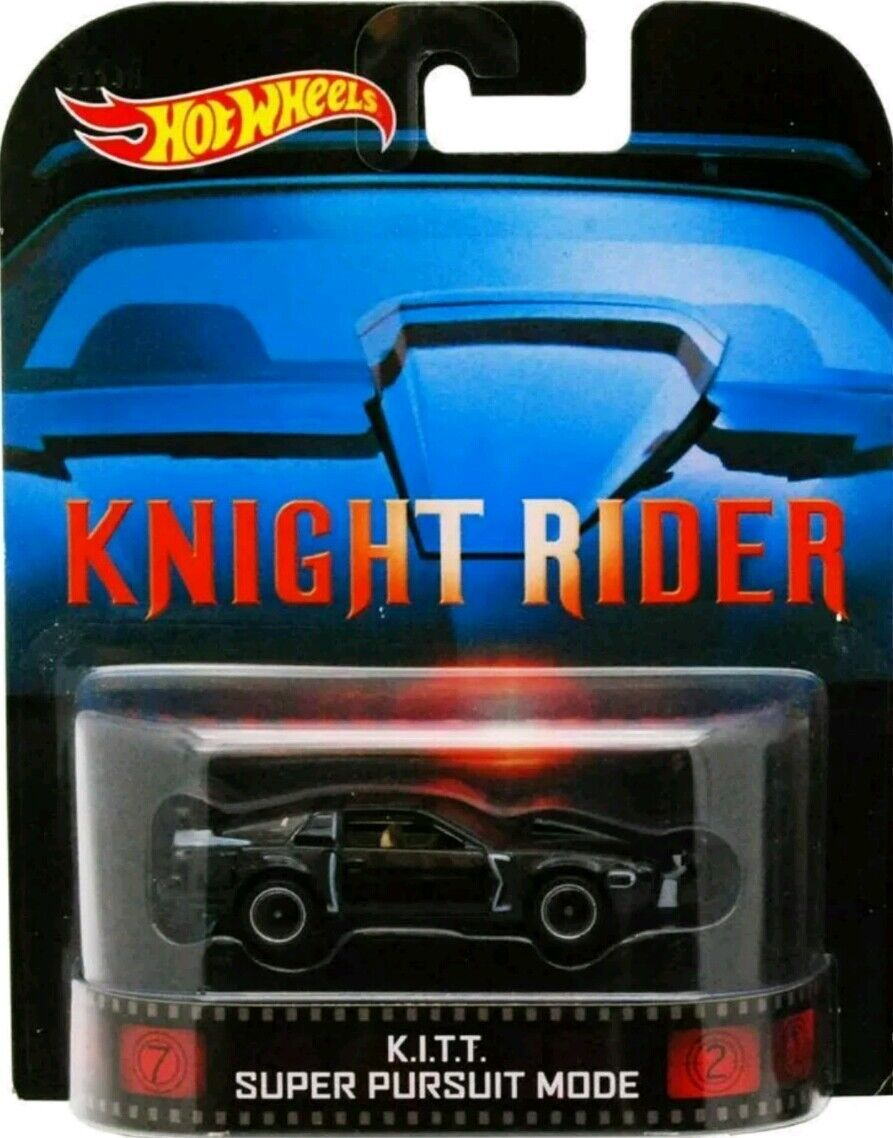Hot Wheels KITT COCHE FANTÁSTICO KNIGHT RIDER Retro K.I.T.T SUPER PURSUIT MODE