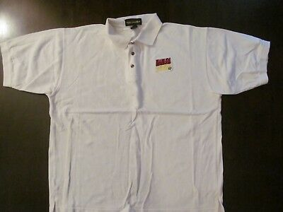 sm Logo -never Worn Painstaking Harlem Globetrotters White Embroidered Polo Shirt