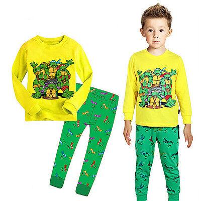 New Teenage Mutant Ninja Turtles Kids Baby Boys Nightwear Pajamas Sleepwear 2-7Y
