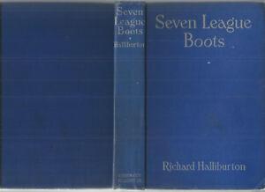 SEVEN-LEAGUE-BOOTS-by-RICHARD-HALLIBURTON-1947-Hc-ELEPHANT-ALPS-SIBERIA-ROMANOFS