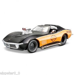 Harley-Davidson-Custom-1970-Corvette-Maisto-Auto-Modell-1-24