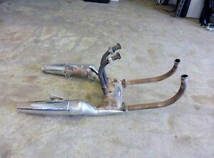 1985-Honda-V45-Magna-VF700C-H1462-exhaust-headers-mufflers-tail-pipes