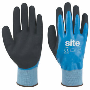 Glenwear Latex Grip Safety Work and Gardening Gloves Hand Protection