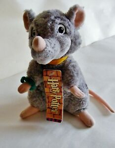 Harry-Potter-Ron-Weasley-039-s-pet-rat-Scabbers-Plush-Toy-WITH-TAG-by-Trudi-Rare