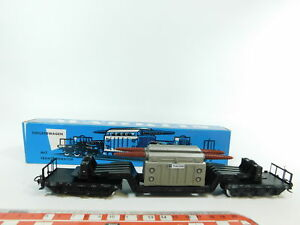 BC649-0-5-Marklin-H0-AC-4617-Wagons-a-plateforme-surbaissee-avec-Charge