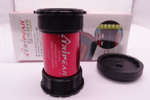 Tripeak Ceramic Bearing Bottom Bracket fit PF82.5 frame with 24mm axle Crank