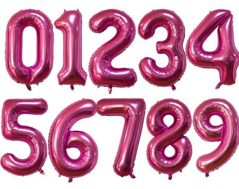 XL foil balloons 100cm Rainbow Numbers Balloon Letters Love Birthday Colourful