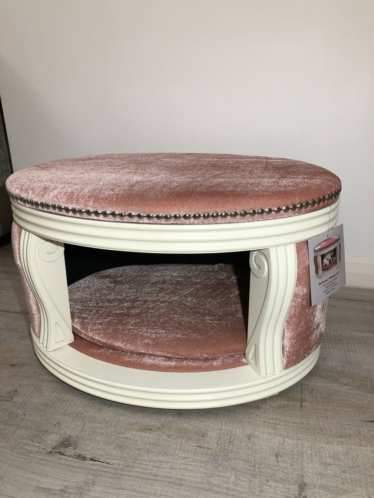 Pet Dog Cat House Bed Bed Bed + Ottoman Shabby Chic French Style Unique New d3f68d