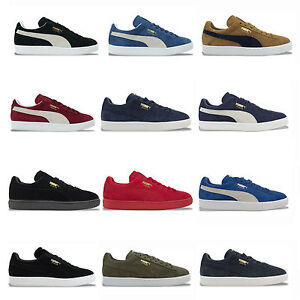 acf9bfa821a2c7 Image is loading PUMA-SUEDE-CLASSIC-TRAINERS-BLACK-BLUE-BURGUNDY-GREY-