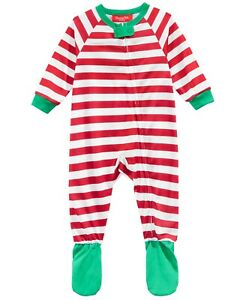 Family-Pajamas-Unisex-Baby-Boys-or-Girls-Holiday-Footed-PJs-Red-White-Stripe