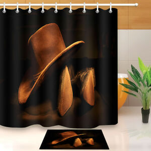 Image Is Loading Western Rustic Cowboy SHOWER CURTAIN Rodeo Fabric Liner