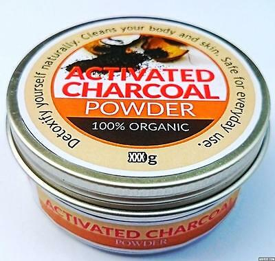 100% PREMIUM ORGANIC COCONUT ACTIVATED CHARCOAL NATURAL TEETH WHITENING POWDER
