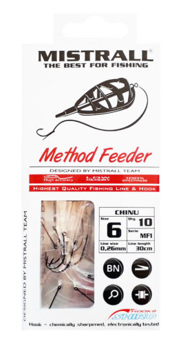 Ready Tied Hooks To Nylon with spike Barbed Method Feeder Coarse Match Fishing