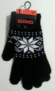 e469fc5e5c6e50 Das Bild wird geladen Handschuhe-Fingerhandschuhe-Faeustlinge-unisex-S-M -Muster-schwarz