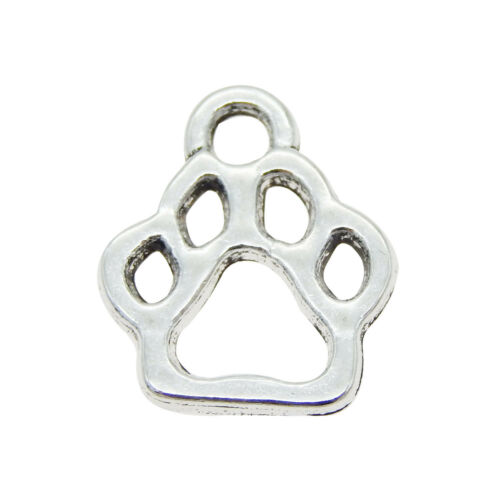 05163 Vintage Silver Plated Funny Cute Animal Paw Pendant Charm Finding 40pcs