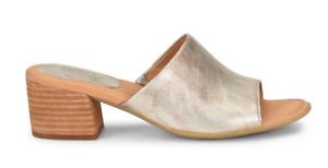 cde1911615e6 NIB Born Women s Opal Slide Leather Sandals in Light Gold