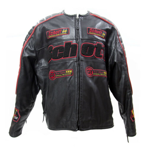 Schott Formula One Official Pro Racing Black Leath
