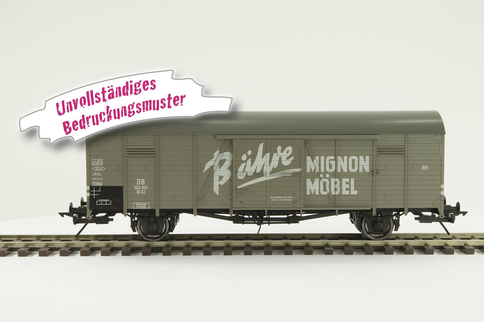 Lenz o Gauge 42212-06 Covered Goods Wagon Gl22 Dresden,   Bähre Mignon