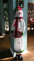 Snowman Decor,Short Tall Adjustable Height Pop Up Christmas Greeter Welcome Sign