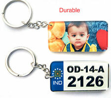 6 Personalized Vehicle Number Key ring for Bike Cars, With Logo & Number plate