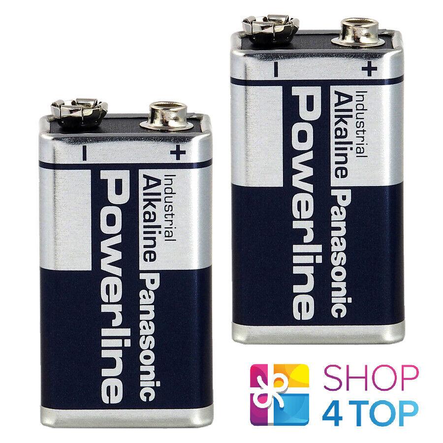 2 9v powerline panasonic industrial 6lr61 alkaline batteries bulk exp 2025 new