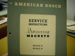 American Bosch Magneto SF14LU-8 & SF14LC-8 Service Manual