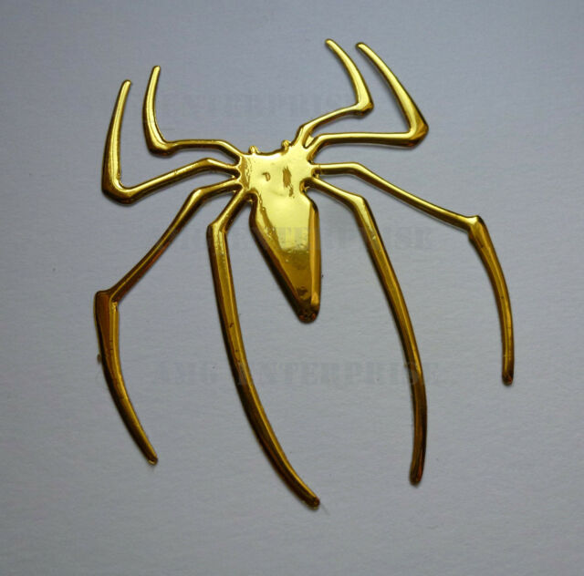 GOLD Chrome Effect Spider Badge Decal Sticker for Audi S3 S4 S5 S6 S7 S8 S-Line