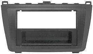 Mascherina 1/2 DIN per Mazda 6-13 colore nero lucido