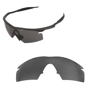 f8f860cc124 Details about Walleva Mr.Shield Polarized Black Replacement Lenses for  Oakley M Frame Strike