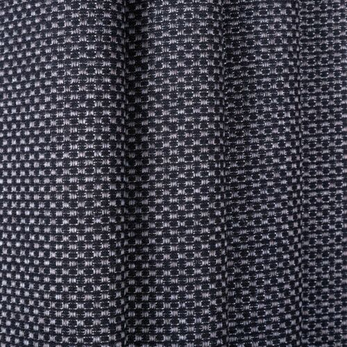 Designer Curtain Fabric Upholstery Woven Charcoal Grey Textured Plain material