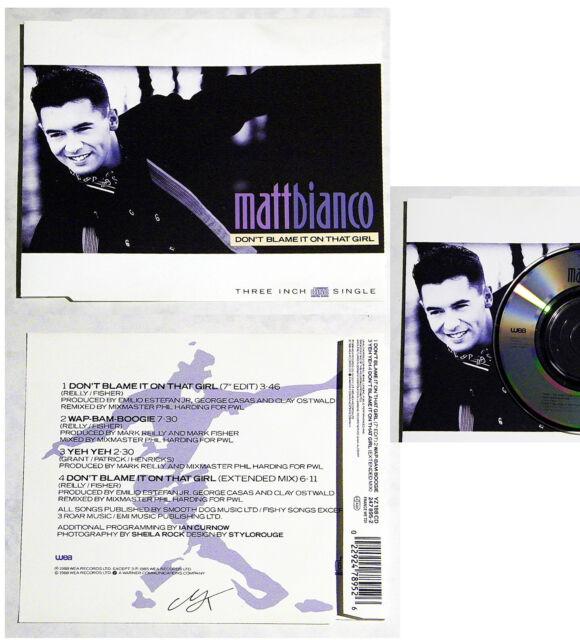 MATT BIANCO Don´t Blame It On That Girl .. 1988 WEA 3inch Maxi CD