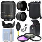 Nikon 55-200mm f/4-5.6G ED IF AF-S DX VR Nikkor Zoom Lens + Accessory Bundle