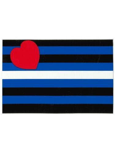 Leather Flag Sticker 7.5x11.5 cm//3x4.5 inch Gay Pride Bumper Rainbow GAYRADO New