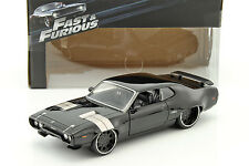 Dom's Plymouth GTX Fast and Furious 8 2017 negras 1:24 jada Toys