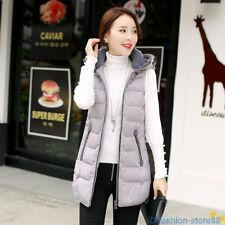 dbe387789d17 item 7 Womens Hooded Down Cotton Vest Long Jacket Sleeveless Coat Waistcoat  XS-2XL -Womens Hooded Down Cotton Vest Long Jacket Sleeveless Coat  Waistcoat XS- ...