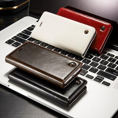 iPhone 7 PLUS Hülle Smartphone Handy Leder Synthetisch Etui Case Tasche Cover