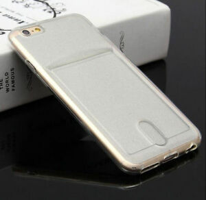 save off 34385 1d0c0 Details about Slim Clear Card Holder Soft Protective Case Cover For iPhone  X 8 7 6s XR XS Max