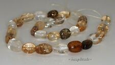 17X11MM SMOKY ROCK CRYSTAL QUARTZ GEMSTONE INCLUSIONS NUGGET LOOSE BEADS 16""