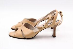 reputable site e6b53 3cf70 Details zu PETER KAISER Sandalen Pumps Beige Gr. 36 UK 3 Voll Leder  Echtleder Damen Schuhe