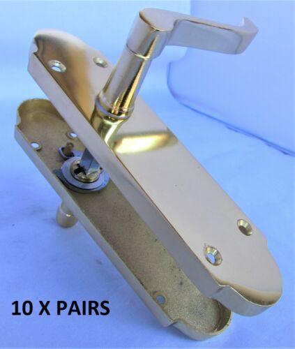Brass Finish Modern Epsom Internal Door Handles Lever Latch Handles Door Sets D1