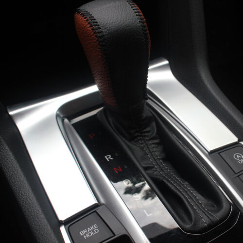 3PCS Matte Chrome dashboard Gear Moulding Cover trims For Honda Civic 2016-2018