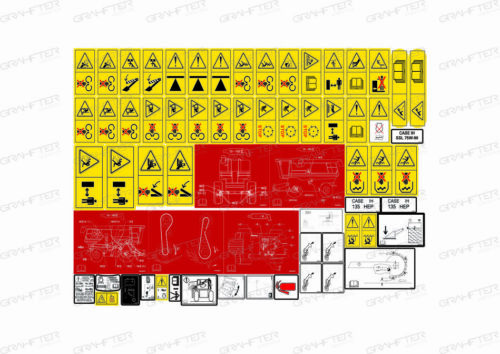 harvester case ih 2588 decal adhesive sticker  compatible