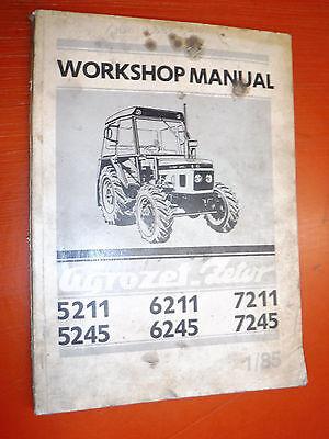 Zetor collection on ebay up to 1985 agrozet zetor 5211 5245 6211 6245 7211 7245 service workshop manual asfbconference2016 Choice Image