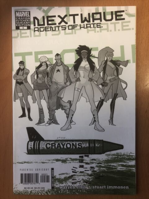 Marvel Comics Nextwave: Agents Of Hate #5 Variant Crayon Cover VF-NM