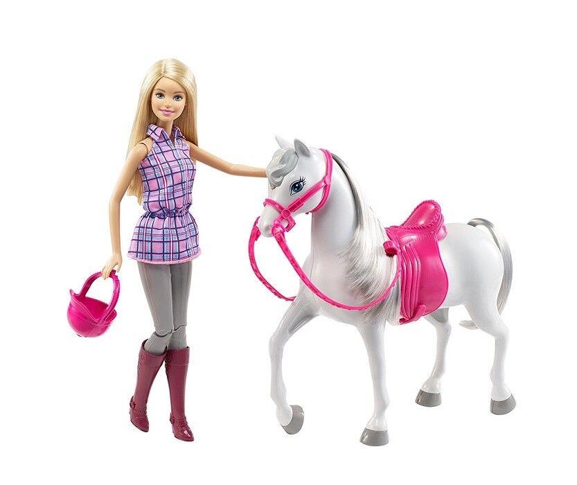 Barbie DHB68 - Modepuppe Barbie und Pferd NEU OVP