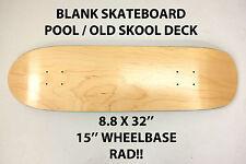 Vuoto Plain-Pool Old Skool Skateboard Deck - 8,8 X 32-punto skate HESH NUOVE
