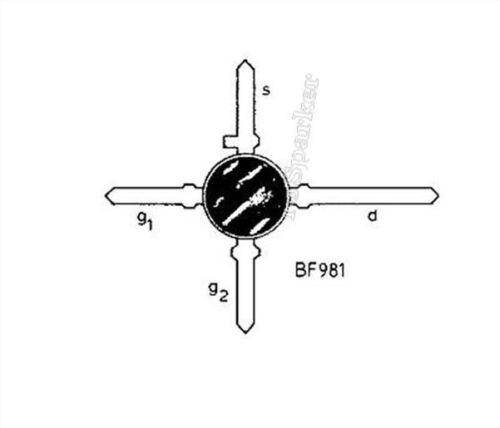 Puerta Doble De Silicio 20Pcs BF981 Mosfet IC Nuevo EK
