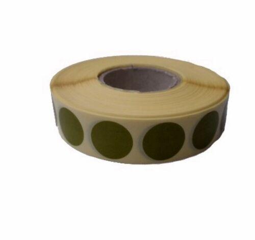 Rouleau de pastilles / gommettes adhésives autocollantes Ø 20 mm - 2000 - VERT