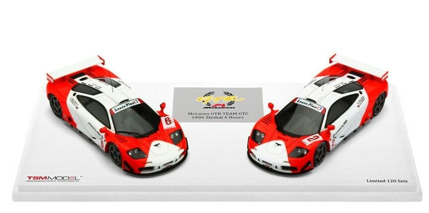 McLaren F1 GTR   Zhuhai 4 Hours Two Cars Set in 1 43 Scale by TSM